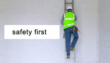 Cleaning With Ladder