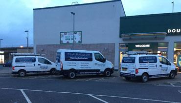 Vans Parked Outside In Edinburgh