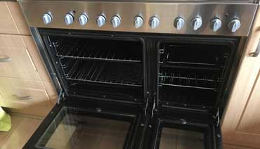 Professional cleaned oven