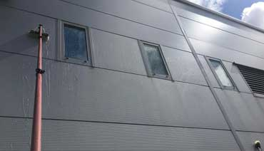 Sign cladding cleaning Edinburgh
